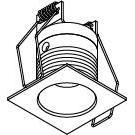 Drawing of ZIALEDMC.S1/.. - Ø40 ZIA LED M, inbouw plafond- en wandlicht - vierkant - vast - met led - zonder LED driver