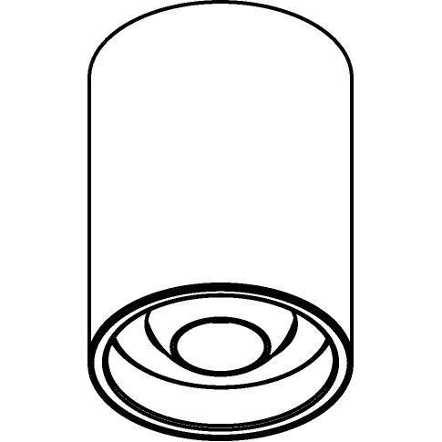 Drawing of 1511/.. - CAMELEON CITIZEN LED, opbouwspot - rond - richtbaar - down