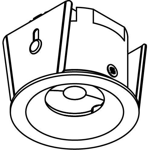 Drawing of ZIALEDF230V.S2/.. - Ø45 ZIA LED 230V, inbouw plafond- en wandlicht - rond - met led