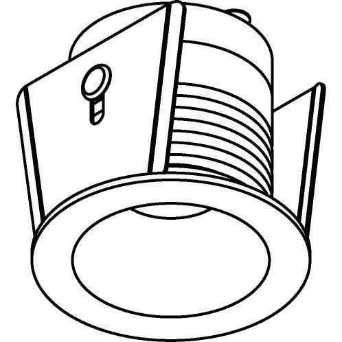 Drawing of ZIALEDM.S2/.. - Ø40 ZIA LED M, inbouw plafond- en wandlicht - rond - vast - met led - zonder LED driver