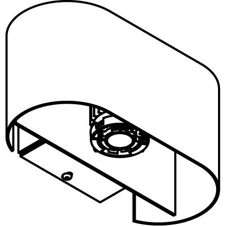 Drawing of 1782B.IP20/.. - ENSOR XICATO, opbouw wandlicht - down/up - met led Halfhoge Ensor - met LED driver