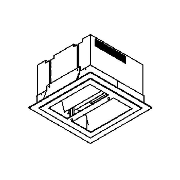 Drawing of 1256.LED/.. - QUADRO, inbouw plafondverlichting - vierkant