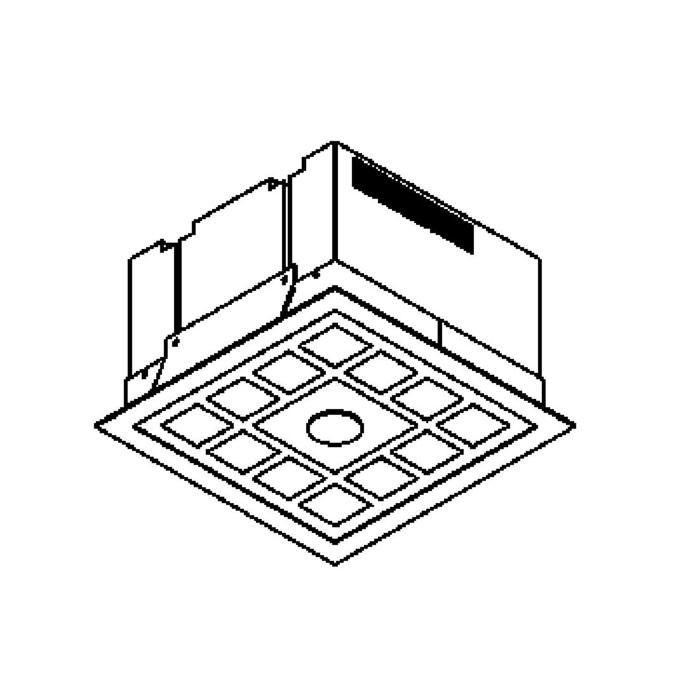 Drawing of 1253.LED/.. - QUADRO, inbouw plafondverlichting - vierkant - met glas