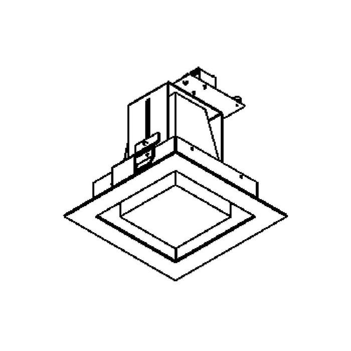 Drawing of 1520B.LED/.. - SNOWBOX LED, inbouw plafondverlichting - vierkant - zonder LED driver