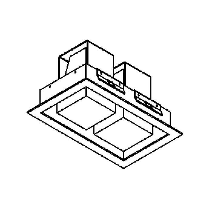 Drawing of 1522A.LED/.. - SNOWBOX LED, plafonnier encastrable - carré - sans driver LED
