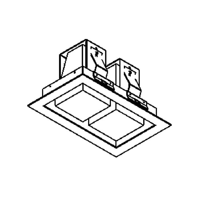 Drawing of 1522B.LED/.. - SNOWBOX LED, inbouw plafondverlichting - vierkant - zonder LED driver