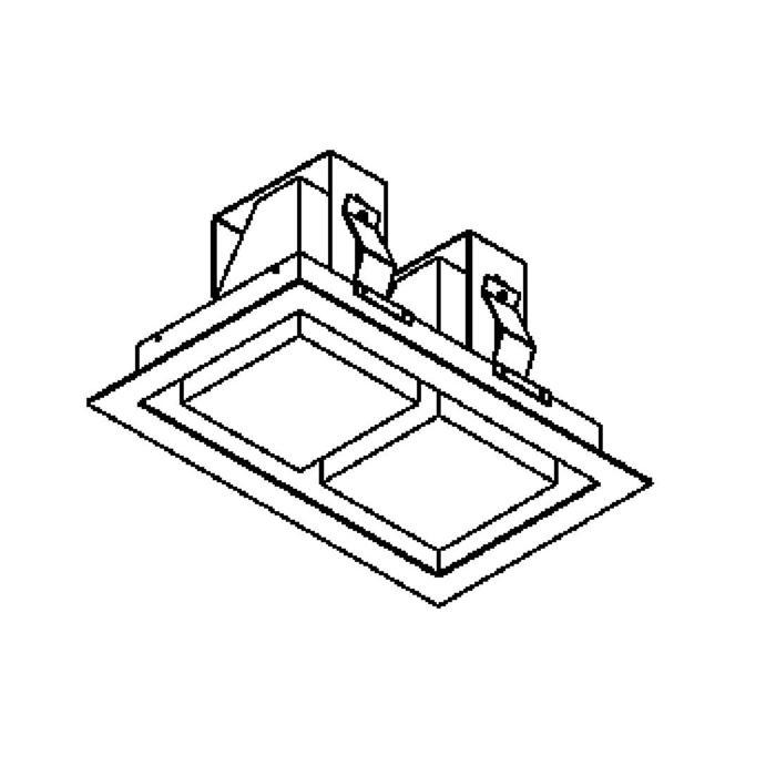 Drawing of 1522C.LED/.. - SNOWBOX LED, inbouw plafondverlichting - vierkant - zonder LED driver