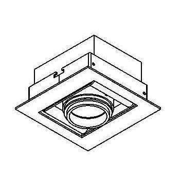Drawing of 945ES50.S2/.. - CAMERA IN ES50, inbouw plafond- en wandlicht - vierkant - richtbaar - zonder transfo