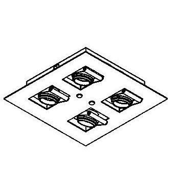Drawing of 948ES50/.. - CAMERA IN ES50, inbouw plafondverlichting - vierkant - richtbaar