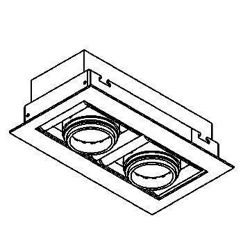 Drawing of 946ES50/.. - CAMERA IN ES50, inbouw plafond- en wandlicht - vierkant - richtbaar