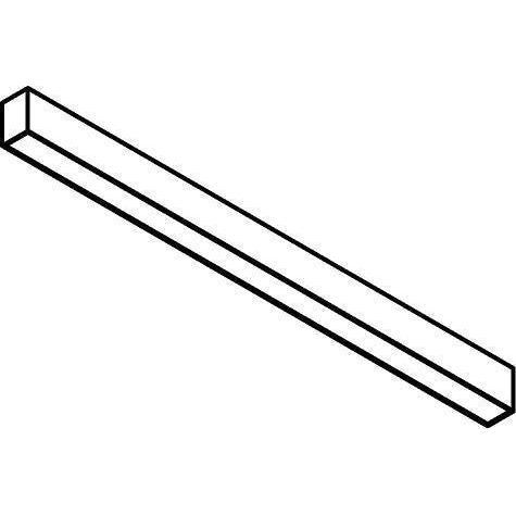 Drawing of 2981.850/.. - TIMES LED 60X85, lichtsysteem - bevestiging rechtstreeks op plafond