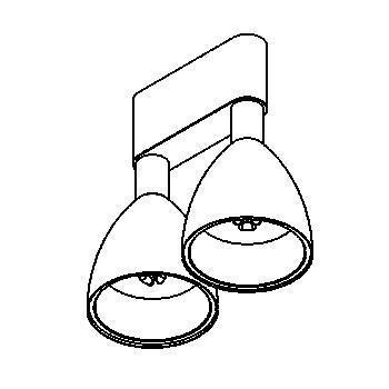 Drawing of 1802.LED/.. - TWIPE LED, built-up ceiling light - fixed - down - with LED driver