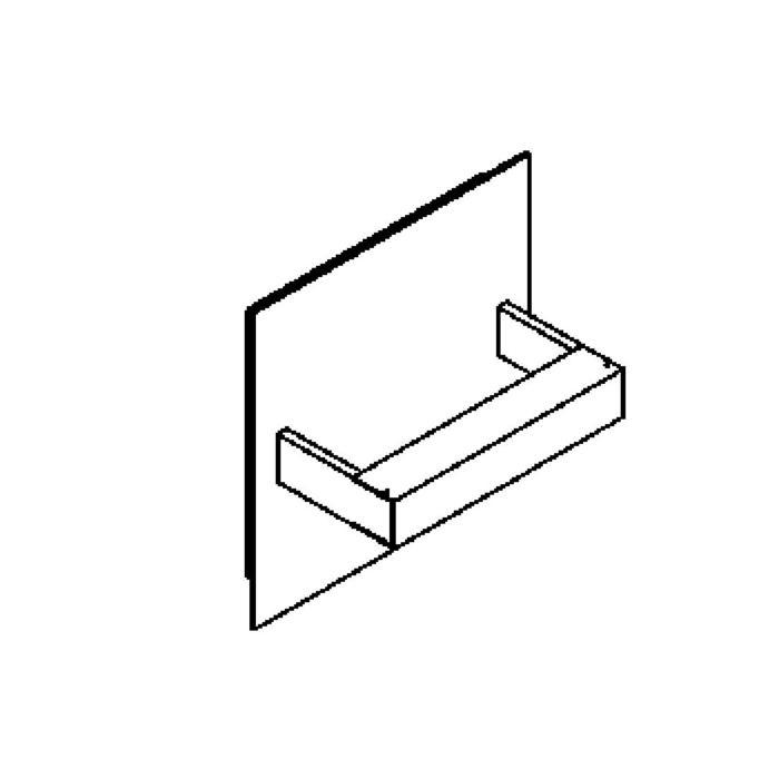 Drawing of 1402LED/.. - LOTUS UP LED, Wandleuchte für Aufbau - viereckig - fest - down/up