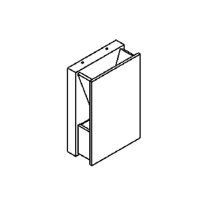 Drawing of 3040LED/.. - RAYA LED, opbouw wandlicht - vierkant - vast - up