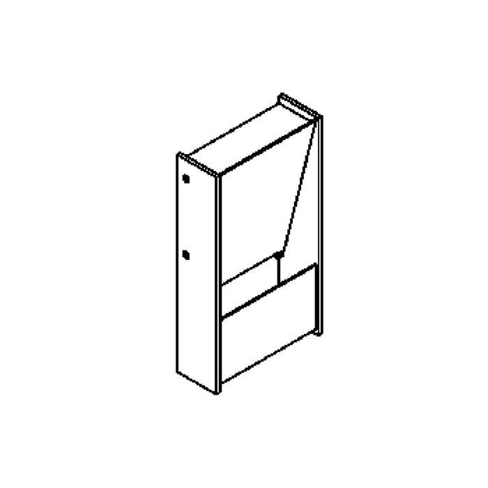 Drawing of 1281LED/.. - ZEN LED, opbouw wandlicht - vierkant - vast - up