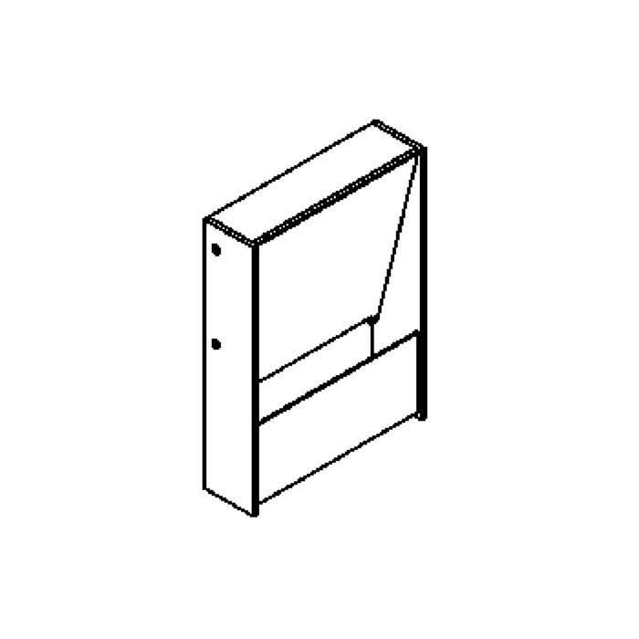 Drawing of 1282LED/.. - ZEN LED, opbouw wandlicht - vierkant - vast - up