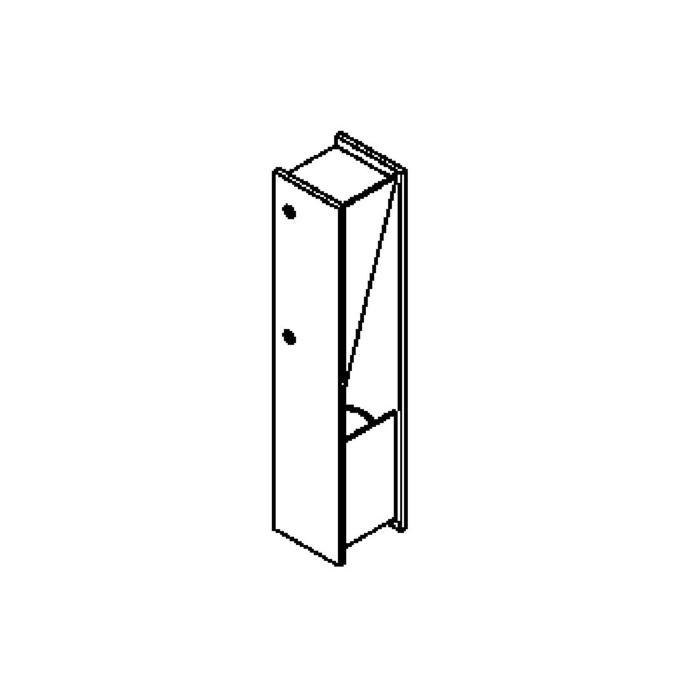 Drawing of 1280LED/.. - ZEN LED, opbouw wandlicht - vierkant - vast - up
