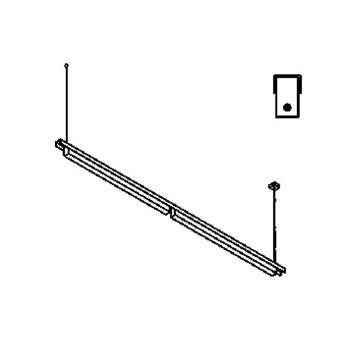 Drawing of 2524BLED/.. - CLIP LED, lichtsysteem - PC 2 x 1200mm