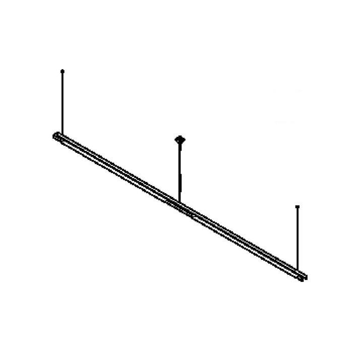 Drawing of 2558CLED/.. - CLIP LED, lichtsysteem - PC 2 x 1500mm