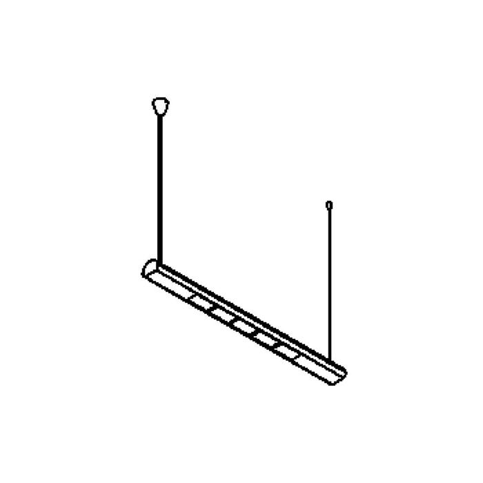 Drawing of 2102ALED/.. - METRO LED, Lichtsystem - 9 Löcher
