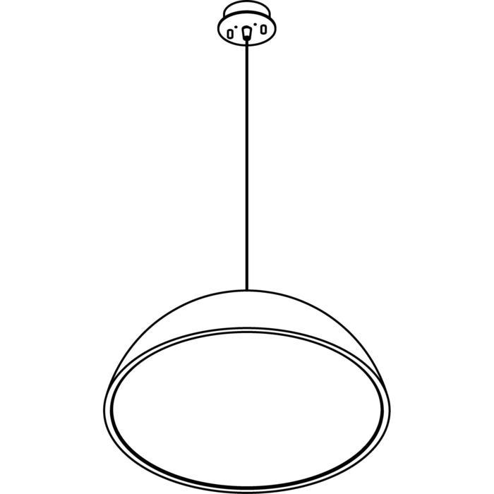 Drawing of 1487.LED/.. - NOTRE DAME, suspension avec régulateur d'hauteur - avec driver LED