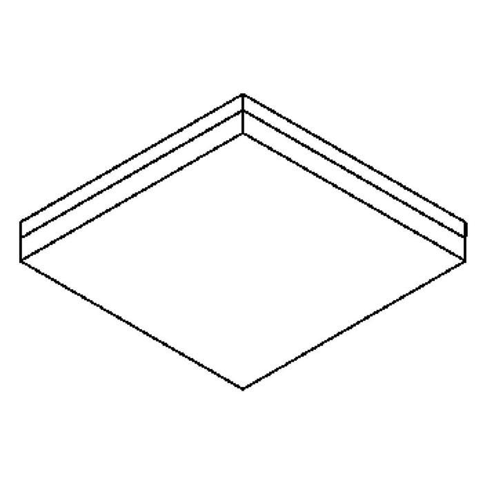 Drawing of 640.400.LED/.. - MONET CARRÉ, plafondverlichting - inox behuizing + polycarbonaat deksel - met LED driver