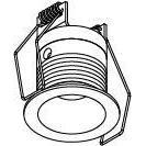 Drawing of ZIALEDMIP44.S1/.. - ZIALEDMIP44.S1/.., inbouw plafond- en wandlicht - rond - vast - met led - zonder LED driver