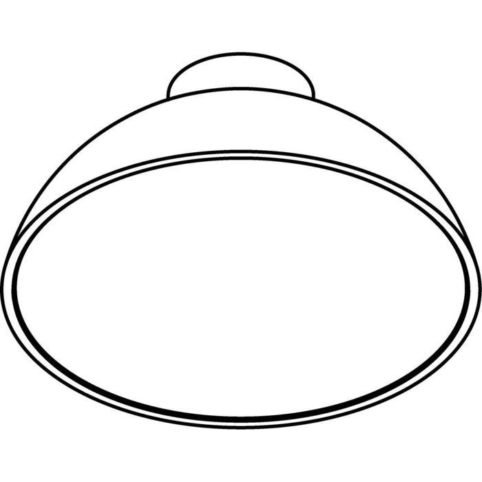 Drawing of 2487.LED/.. - NOTRE DAME, Aufbau Deckenleuchte - mit Driver LED