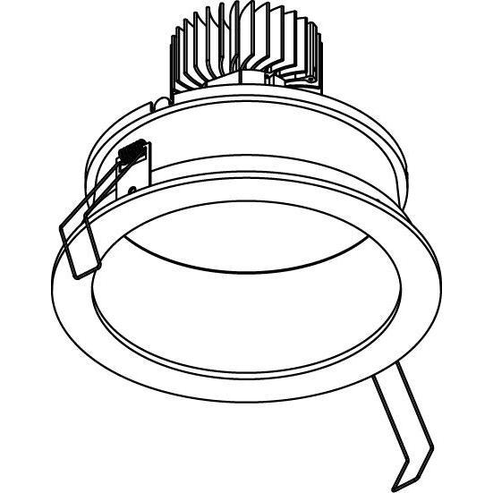 Drawing of 4065.IP20/.. - LUXOR - INCA.IP20, inbouwspot - rond - vast - down - met led - zonder LED driver