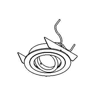 Drawing of DIVA35OUT/.. - Ø65, inbouwspot - rond - richtbaar - zonder transfo