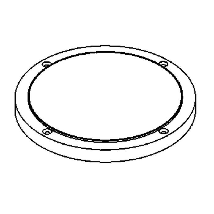 Drawing of 1181.9/.. - LAVA GRANDE, accessoires voor grondspot - afdekplaat met boord