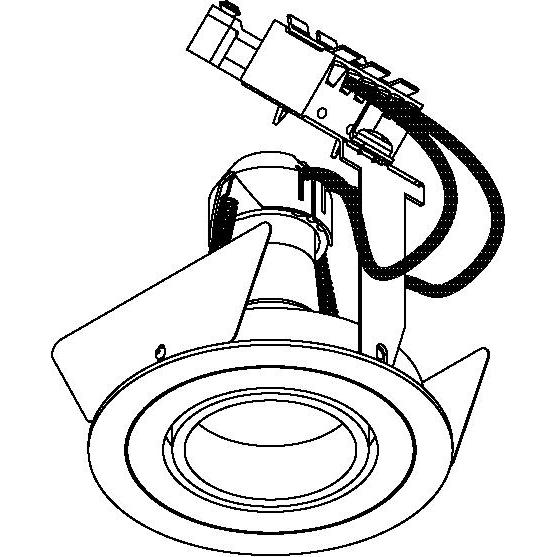 Drawing of CAMBIODOWN.ES50/.. - Ø80, inbouwspot - rond - richtbaar