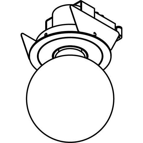 Drawing of MAESTRO.RB.E27/.. - Ø80, inbouwspot - rond - vast - met E27 fitting