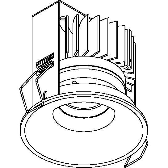 Drawing of 5220.S1/.. - FLOU, inbouwspot - rond - vast - down - met led