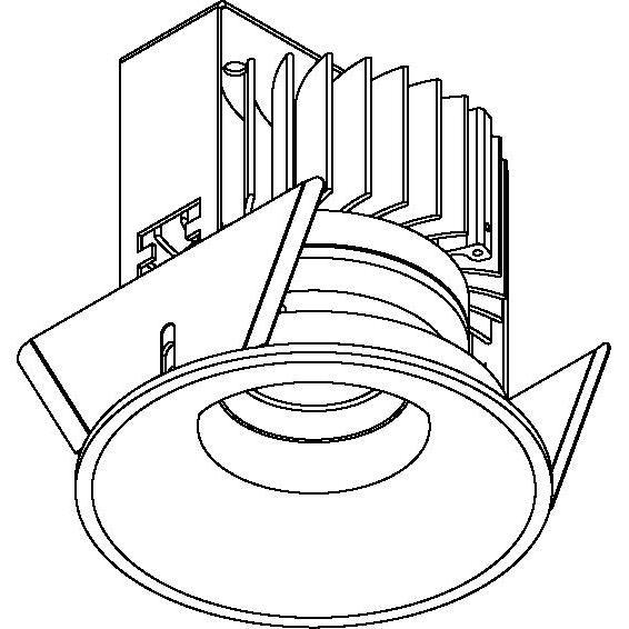 Drawing of 5220.S2/.. - FLOU, inbouwspot - rond - vast - down - met led