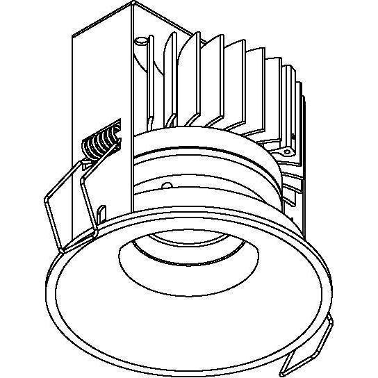 Drawing of 5221.S1/.. - FLOU XICATO, inbouwspot - rond - vast - down - met led - zonder LED driver