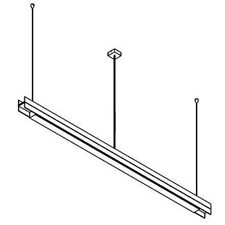 Drawing of 2546.CLED/.. - CLIP DOUBLE, lichtsysteem - down/up - PC 1500mm