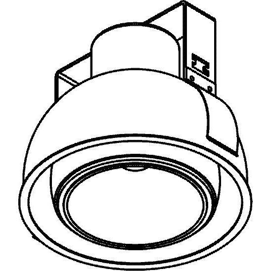 Drawing of 1808.XTM/.. - OLIVIA XICATO, half in- en opbouw plafondverlichting - rond - richtbaar - down - zonder LED driver