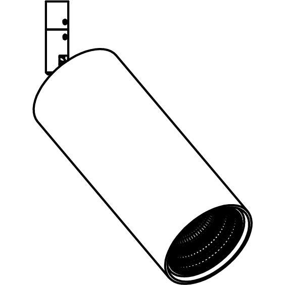 Drawing of 7879/.. - MERO XICATO 700MA, opbouwspot LED M10 - rond - richtbaar - buis Ø60 - L 130mm - zonder LED driver