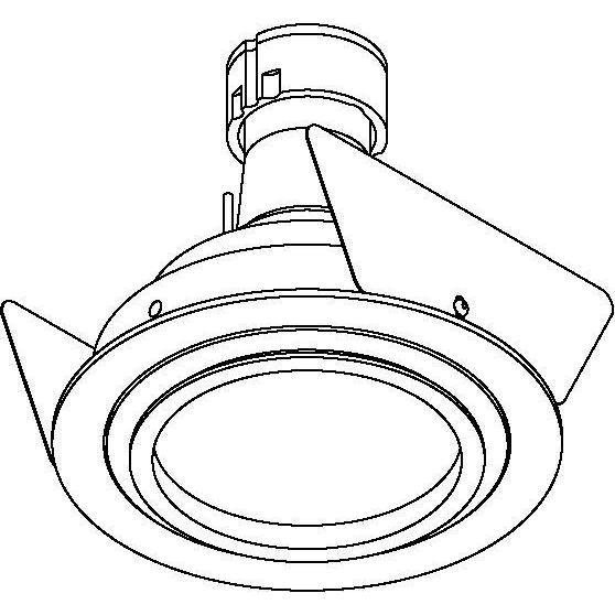 Drawing of AQUANODOT.ES50/.. - Ø80, inbouwspot - rond - vast