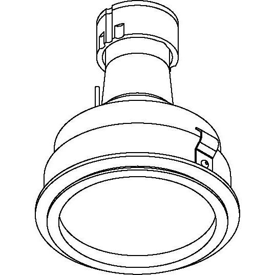 Drawing of CASAQUANODOT.ES50/.. - Ø80 SYSTEM, inbouwcassette - rond - vast - met gezandstraald glas