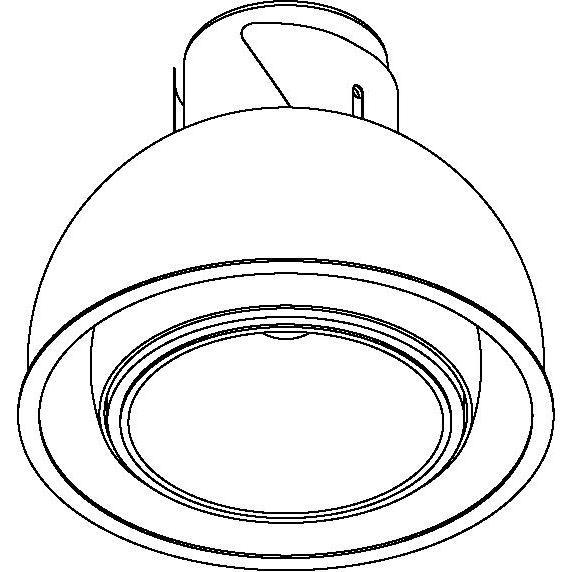 Drawing of 1810.XTM/.. - OLIVIA XICATO, half in- en opbouw plafondverlichting - rond - richtbaar - down - zonder LED driver
