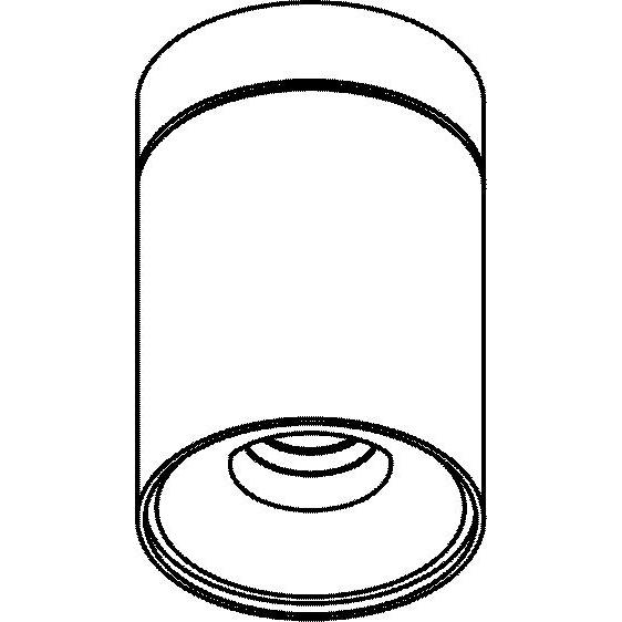 Drawing of 5228/.. - FLOU, opbouw plafondverlichting - rond - vast - met led