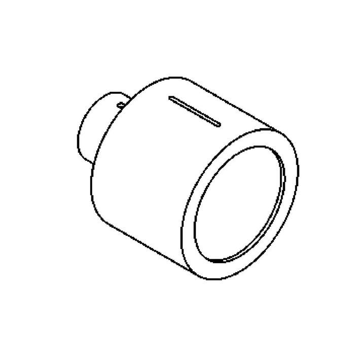 Drawing of 1295ALED/.. - CALIX LED, half in- en opbouw wandlicht - rond - standaard gezandstraald wit glas