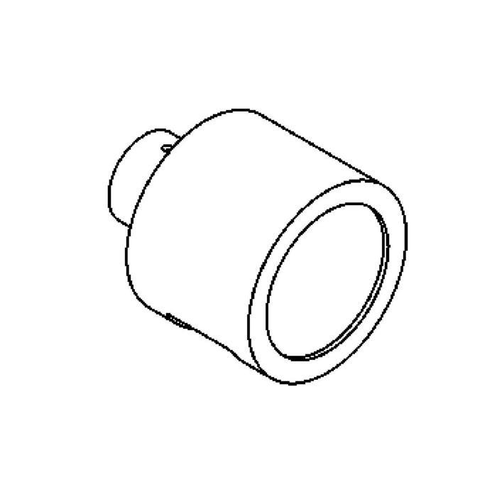 Drawing of 1295BLED/.. - CALIX LED, half in- en opbouw wandlicht - rond - standaard gezandstraald wit glas