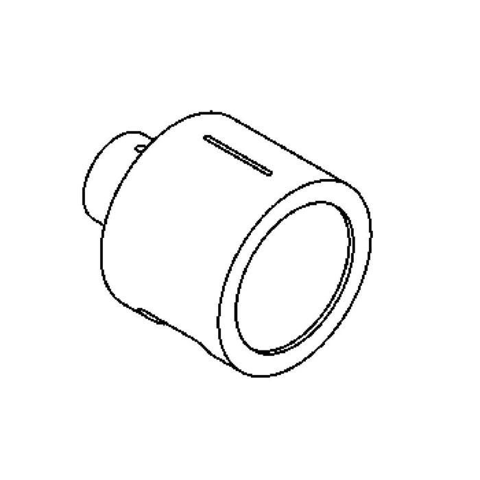 Drawing of 1295CLED/.. - CALIX LED, half in- en opbouw wandlicht - rond - standaard gezandstraald wit glas