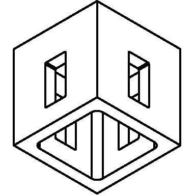 Drawing of 8204/.. - STILETTO, Verbindingsdoos voor opbouwspot of pendel met 4 ingangen