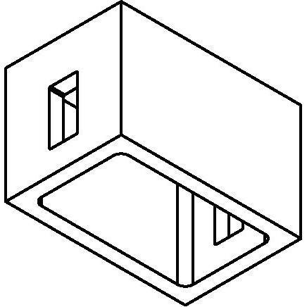 Drawing of 8212/.. - STILETTO, Verbindingsdoos voor opbouwspot of pendel met 2 ingangen