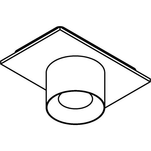 Drawing of 8218/.. - STILETTO, opbouwspot - Afdekplaat met Zialed - zonder LED driver
