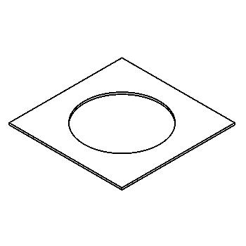 Drawing of 120.120.80/.. - ADAPTION RING, accessories - square - adaption ring square